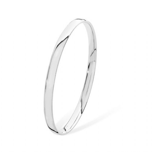 Solid Silver Bangle ( Medium)